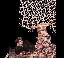Love books valentine paper art by Justin Rowe