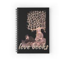 Love books valentine paper art Spiral Notebook