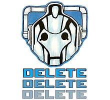 """DELETE!"" - Cyberman - Doctor Who Photographic Print"