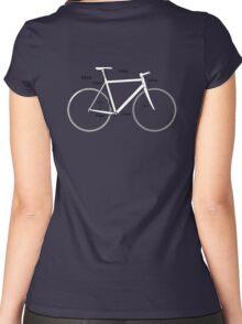 Racing Bike, Road Bike, Bicycle, Push Bike, Push bike, Bike Geometry, Angle, Cyclist, Cycle Women's Fitted Scoop T-Shirt