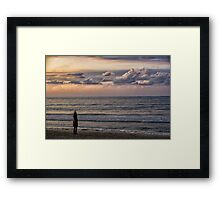 Yoga Tel Aviv Beach Framed Print