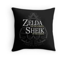 Zelda on the Streets Throw Pillow