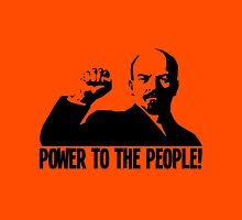 """""""POWER TO THE PEOPLE""""-LENIN Unisex T-Shirt"""