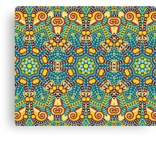 Geometric Indian Pattern Canvas Print