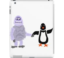 Cool Funny Abominable Snowman and Penguin Love iPad Case/Skin