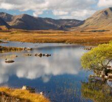 Rannoch Moor. Lochan na-h-achlaise. Blackmount in Autumn. Highland Scotland. Sticker