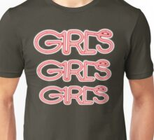 Girls! Girls! Girls! 3X Bright Unisex T-Shirt