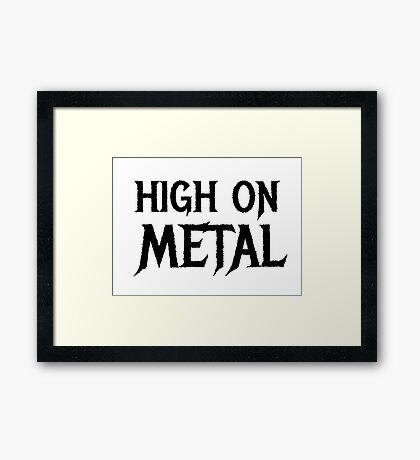 Death Metal Hard Rock Music  Framed Print