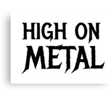 Death Metal Hard Rock Music  Canvas Print