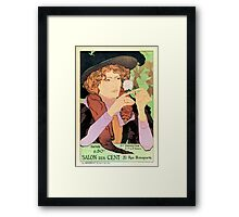 Salon des cent Art nouveau expo Paris 1894 Framed Print