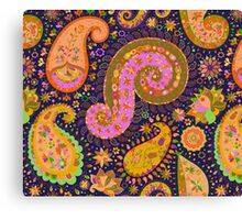 Indian Paisley Pattern Canvas Print