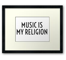 Music Party Bass Techno Framed Print