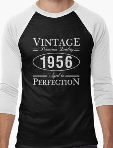 Born In 1956 Gag Gift Men's Baseball ¾ T-Shirt