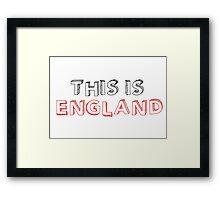 Football Soccer Fan England Framed Print