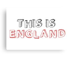 Football Soccer Fan England Canvas Print