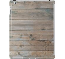 Wood old wall background iPad Case/Skin
