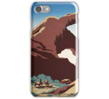 WPA Vintage Travel Poster See America Arches iPhone Case/Skin