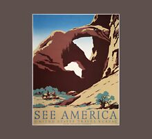 WPA Vintage Travel Poster See America Arches Unisex T-Shirt