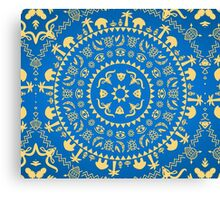 Ornamental African Animal Pattern Canvas Print