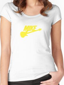 Mike (Yellow) Women's Fitted Scoop T-Shirt