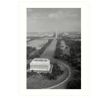 Aerial View of the March on Washington August 28 1963 Art Print