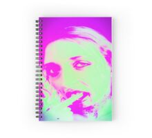Distorted Vampire look with blood dripping from mouth,  Spiral Notebook