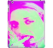 Distorted Vampire look with blood dripping from mouth,  iPad Case/Skin