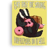 Hufflepuffs Do It Well Canvas Print