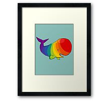 Homosexuwhale - no text Framed Print