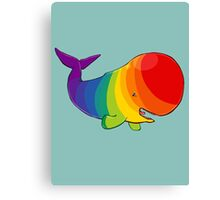 Homosexuwhale - no text Canvas Print