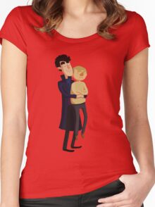 Put me down, Sherlock Women's Fitted Scoop T-Shirt