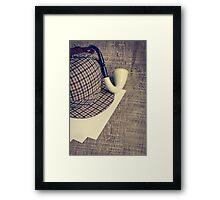 Sherlock Hat and Tobacco pipe Framed Print