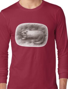White Cat Sleeping on a Sofa Long Sleeve T-Shirt