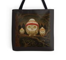 Family of little owls Tote Bag