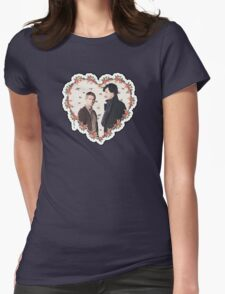 HEARTED JOHNLOCK Womens Fitted T-Shirt