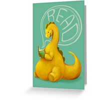 Even Dinosaurs Love to Read Greeting Card