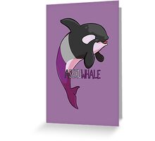 Asexuwhale - with text Greeting Card