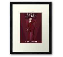 Art Deco Anchorman Framed Print