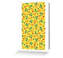 Pokemon Rayquaza Pattern Greeting Card