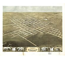 City of Sedalia Pettis County Missouri (1869) Photographic Print