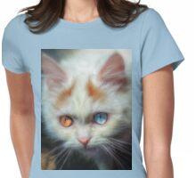 Odd-Eyed Persian Kitten Womens Fitted T-Shirt