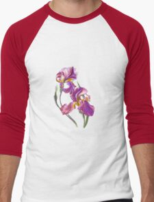 Irises-1 Men's Baseball ¾ T-Shirt