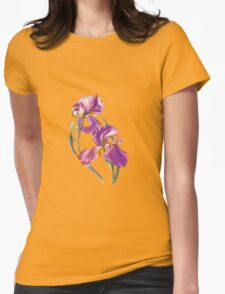 Irises-1 Womens Fitted T-Shirt