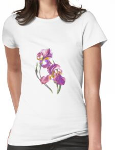 Irises-1 Womens Fitted T-Shirt