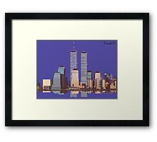 Memoirs of the World Trade Center Framed Print