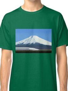 Mount Fuji and the Bullet Train JR 500, Japan Classic T-Shirt