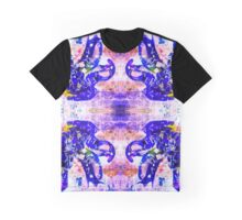 Shattered Blue - mirrored Graphic T-Shirt