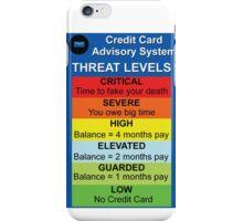 Credit Card Bill : Threat Level iPhone Case/Skin