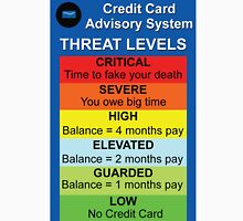 Credit Card Bill : Threat Level T-Shirt