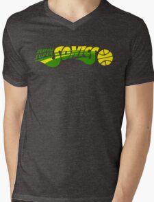 DEFUNCT - SUPER SONICS Mens V-Neck T-Shirt
